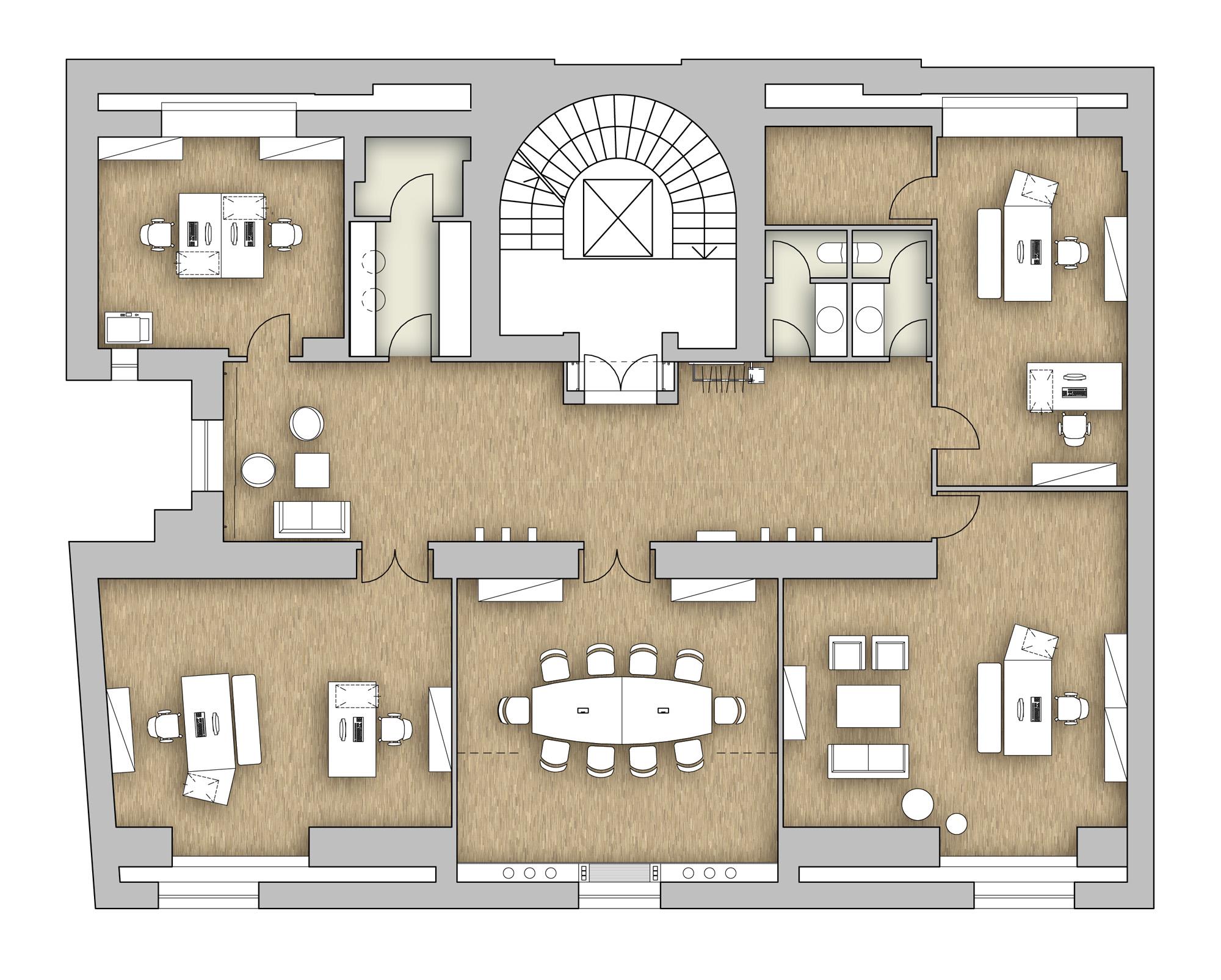 Schiener Architects | Büro Conspectra Unternehmensberatung | {Teeküche büro grundriss 11}